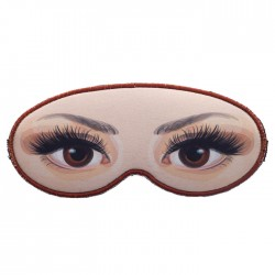 Máscara de Dormir Neoprene Olhos Castanhos