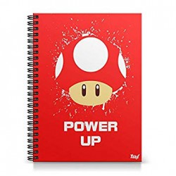 70606e40f Caderno Universitário Cogumelo Power Up