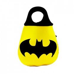 Lixeira Carro Neoprene DC Batman Logo Amarelo
