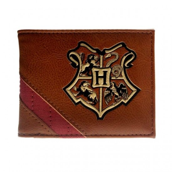 Carteira Harry Potter Brown Leather Hogwarts Houses