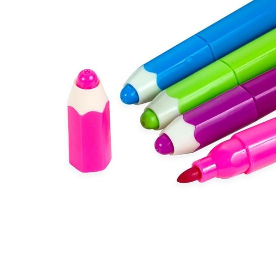 Canetinha Lápis Colorido c/ Carimbo