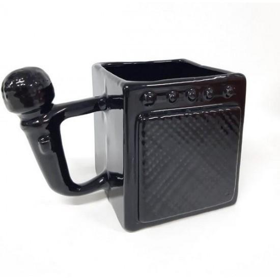 Caneca Formato 3D Amp e Microfone