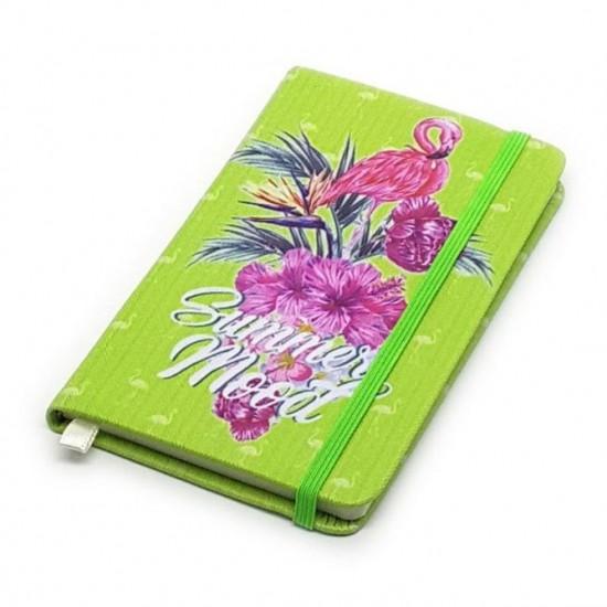 Caderneta de Anotação A6 Flamingo Summer Verde