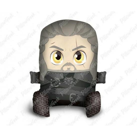 Almofada Pillowgeek Geralt (The Witcher) 36cm