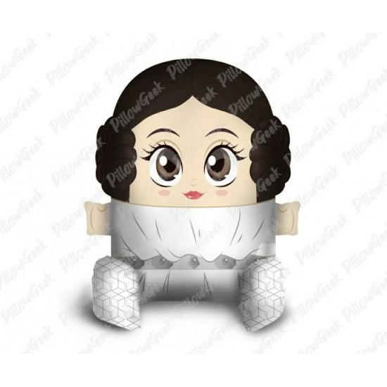 Almofada Pillowgeek Princesa Leia 18cm