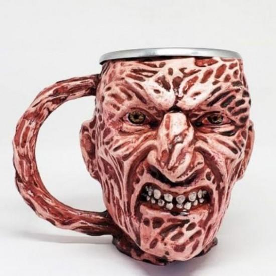 Caneca 3D Resina Freddy Krueger