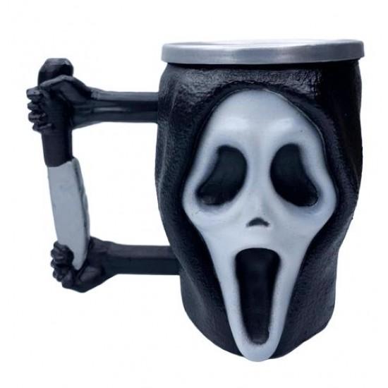 Caneca 3D Resina Ghostface