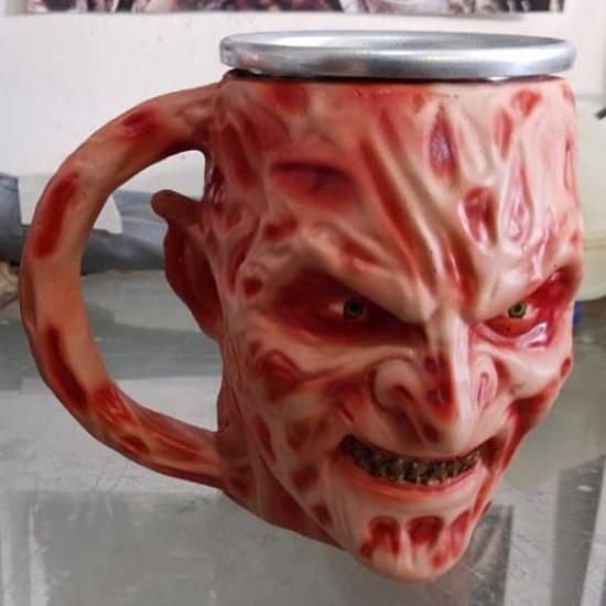 Caneca 3D Resina Freddy Krueger V2