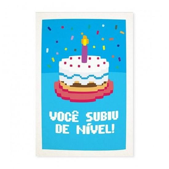 Cartão Comemorativo Subiu de Nível