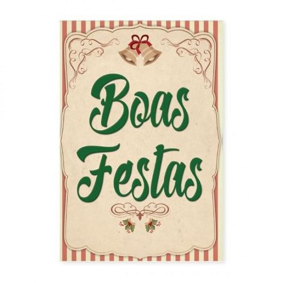 Cartão de Natal Boas Festas