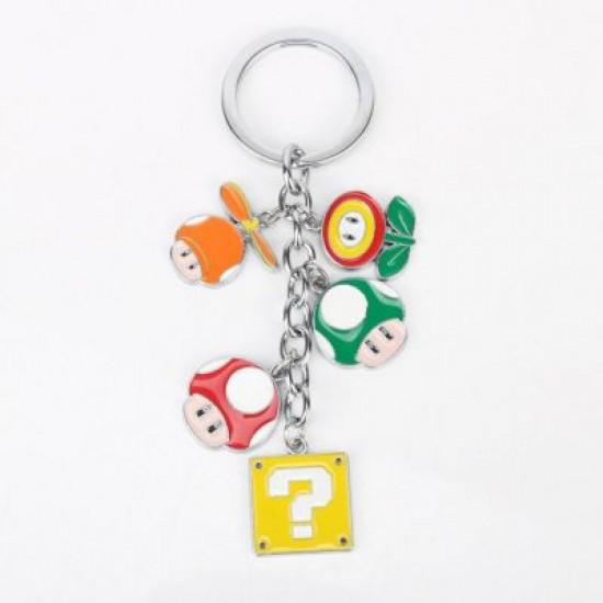 Chaveiro Mario - 5 Personagens
