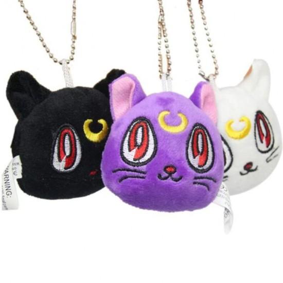 Chaveiro Pelúcia Gato Luna Sailor Moon