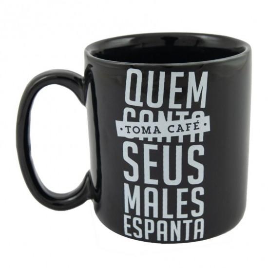 CANECA CILÍNDRICA - QUEM TOMA CAFÉ