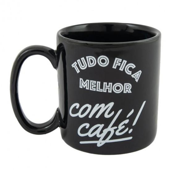 CANECA CILÍNDRICA - TUDO FICA MELHOR COM CAFÉ