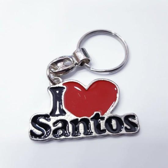 Chaveiro I Love Santos