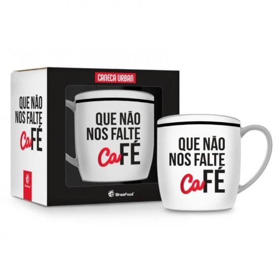 CANECA PORCELANA URBAN 360ML - QUE NAO FALTE CAFE