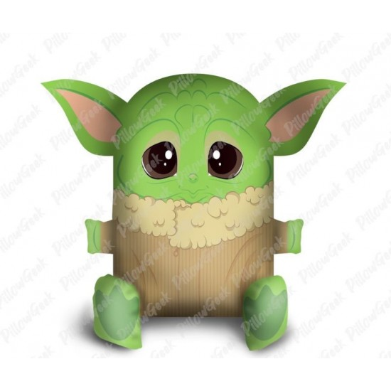 Almofada Pillowgeek Baby Yoda 18cm