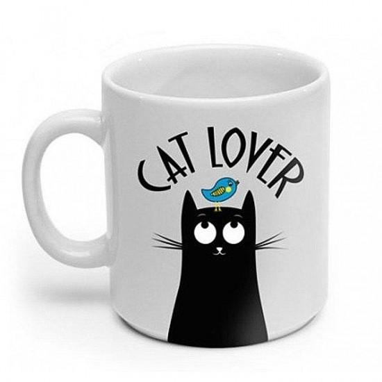 Caneca Branca Cat Lover