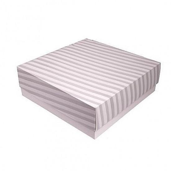 Caixa de Presente G - Listras Cinza