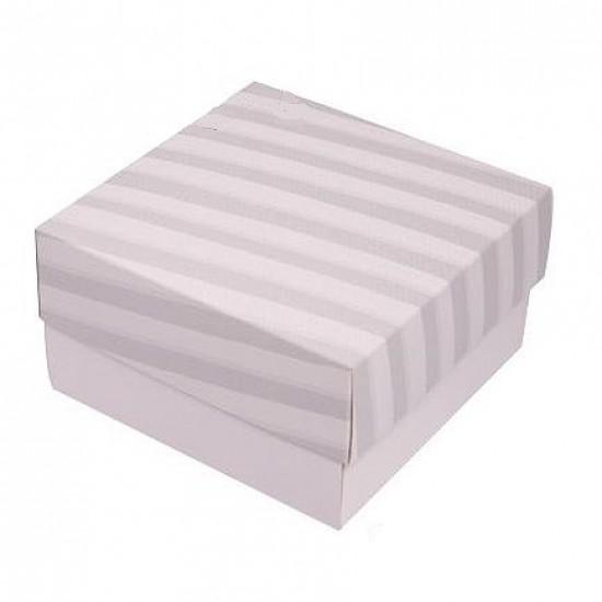 Caixa de Presente P - Listras Cinza