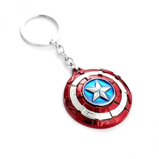 Chaveiro Escudo Capitão América Rotativo
