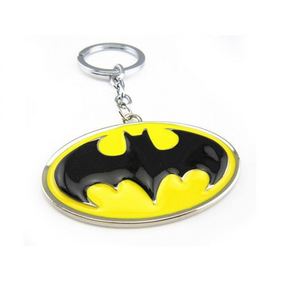 Chaveiro Batman Yellow Logo - Retro Symbol