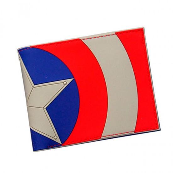 Carteira Marvel - Escudo Capitão América