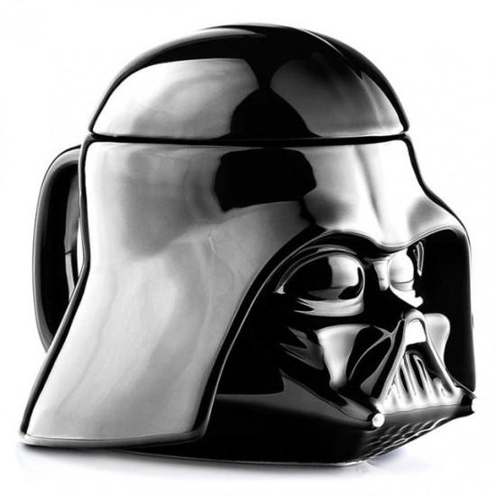 Caneca Darth Vader c/ Tampa - Cerâmica