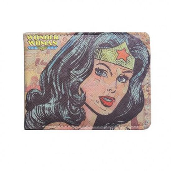 Carteira DC Wonder Woman - Comics Rosa