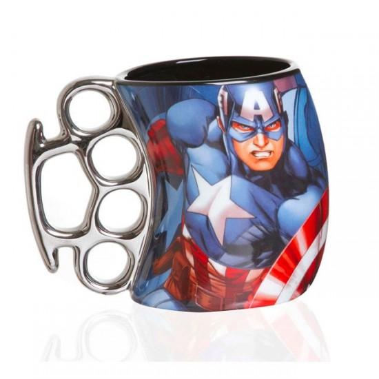 Caneca Soco Inglês 350ml Captain America