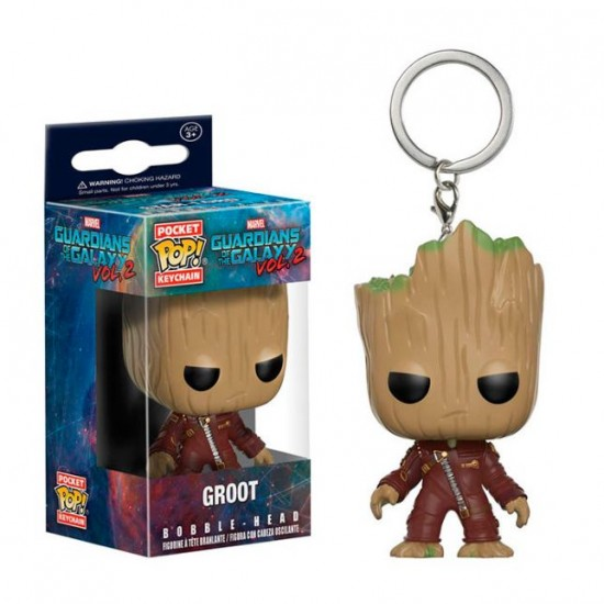Chaveiro Funko POP - Red Jacket Groot