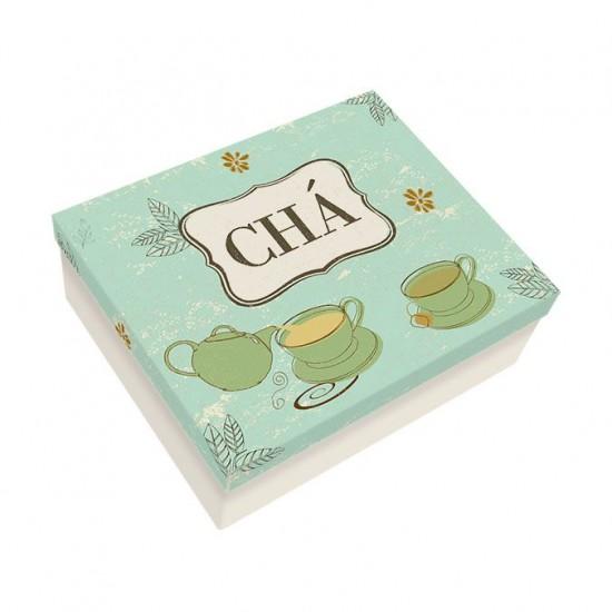 Caixa de Aço Chá Verde - Grande