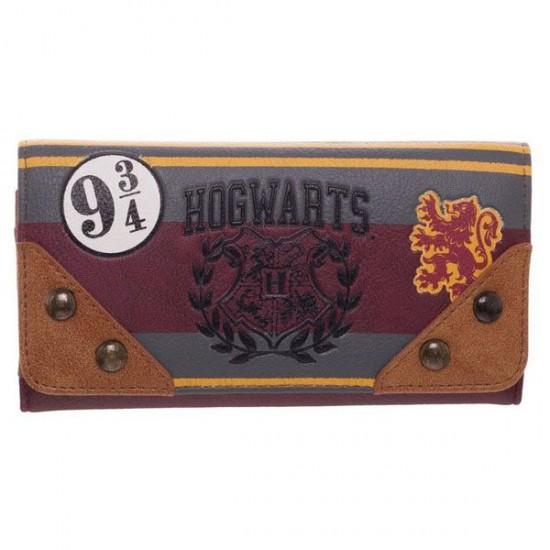 Carteira Retangular Harry Potter Patches