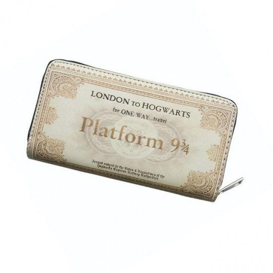 Carteira Retangular c/ Zíper - Harry Potter Ticket Plataforma