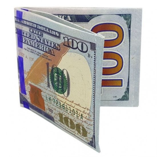 Carteira Slim Nota de 100 Dólares