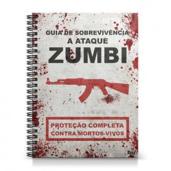 Caderno Universitário Guia de Sobrevivência a Ataque Zumbi