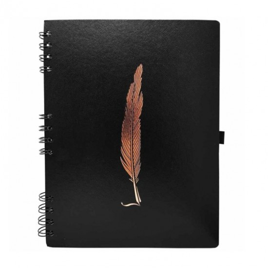 Caderno Noir Feather