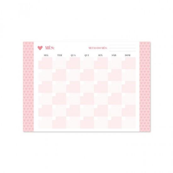 Bloco A4 Pink Stone - Calendário Permanente