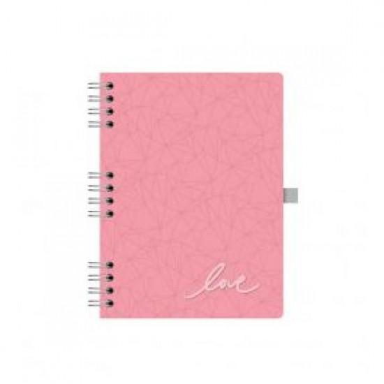 Caderno Pink Stone Love