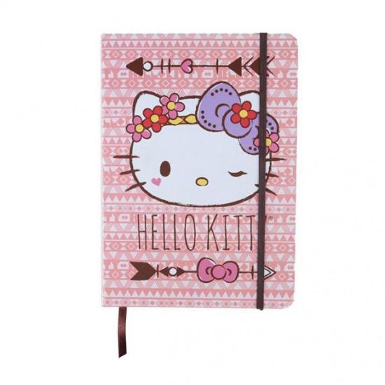 Caderneta de Anotação Hello Kitty Purple Lace A5