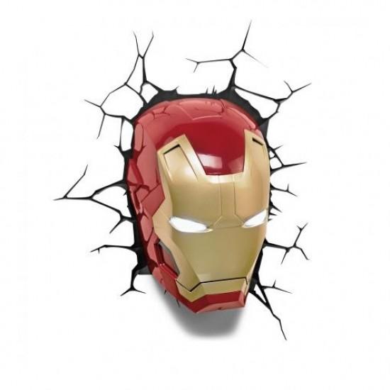 Luminária 3D Marvel - Iron Man Mask