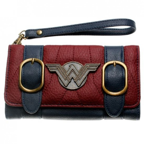 Carteira Retangular c/ Alça Wonder Woman Vintage