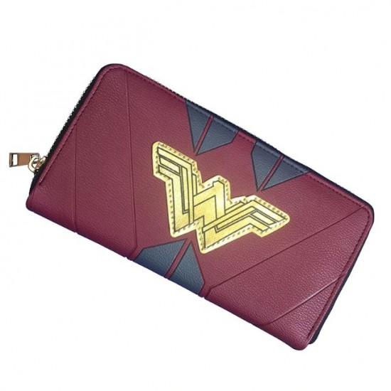 Carteira Retangular c/ Zíper - Wonder Woman Golden Logo