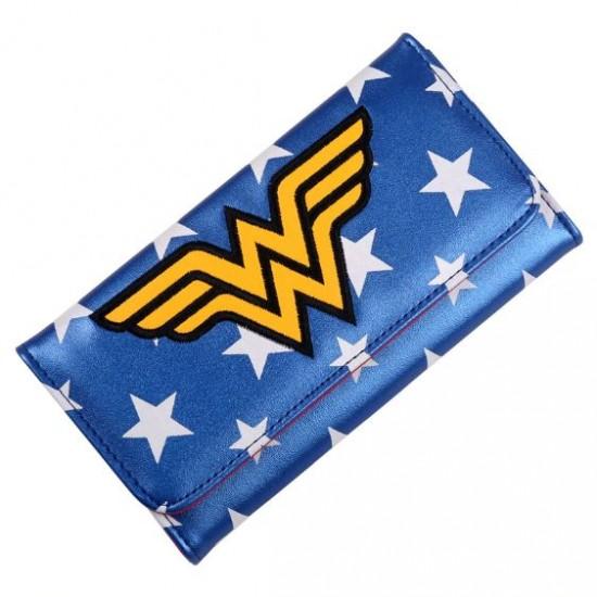 Carteira Retangular Wonder Woman Stars