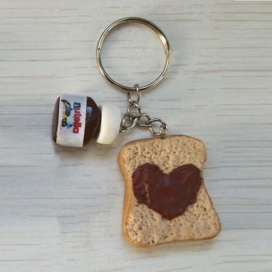 Chaveiro Pão com Nutella