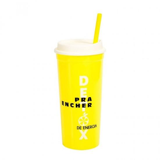 Copo Pop com Canudo - Detox