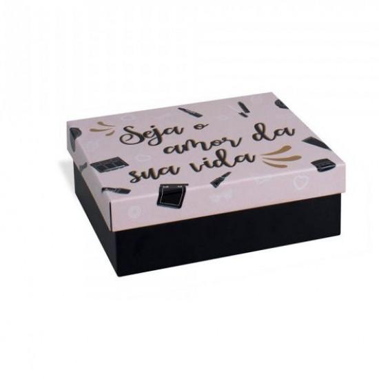 Caixa de Aço Maquiagens Amor da Vida