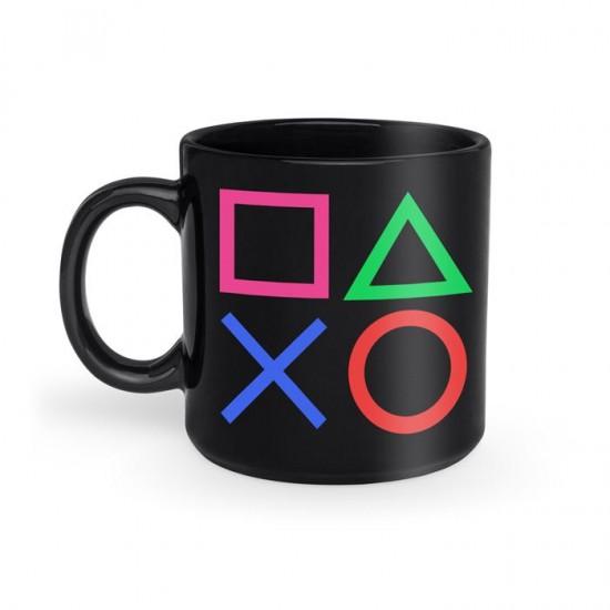 Caneca Plástica Preta Playstation