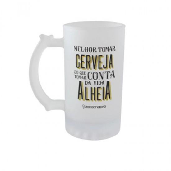 CANECA DE CHOPP 450ML FOSCO MELHOR TOMAR CERVEJA
