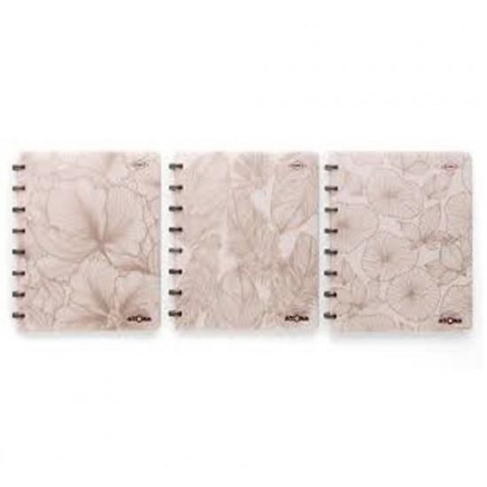 Caderno Atoma So Chic A5 Branco Pautado - Mix